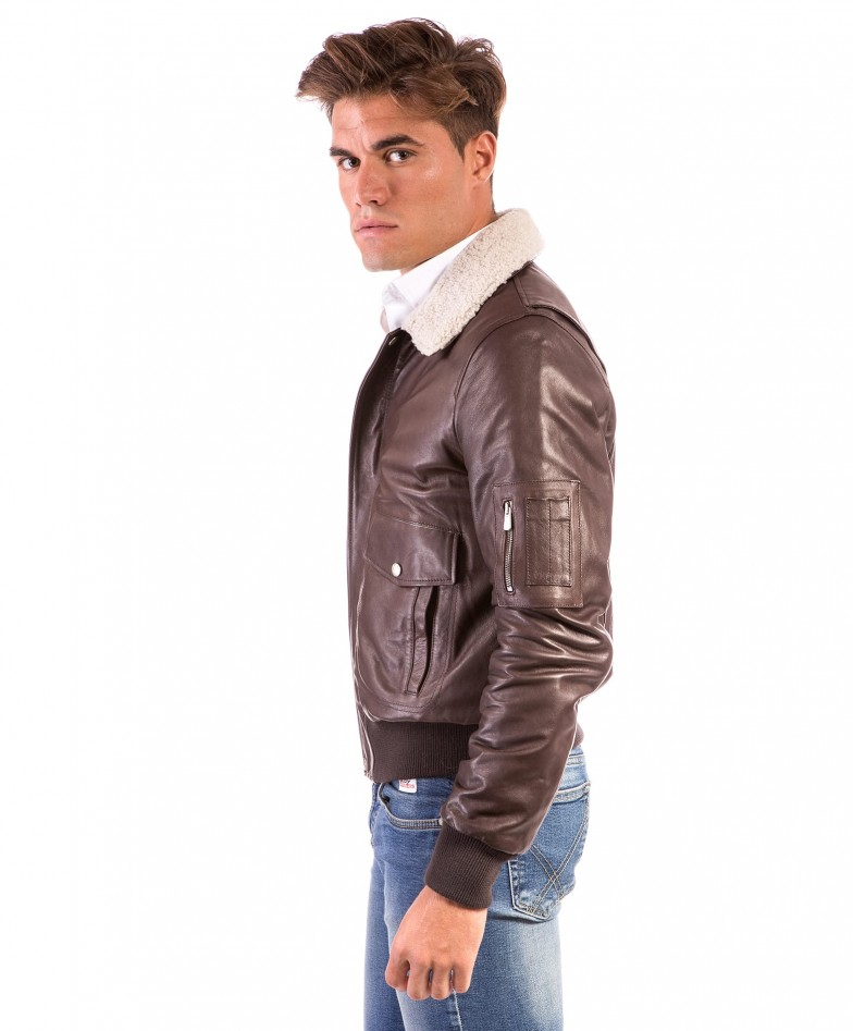 aviator-dark-brown-colour-lamb-leather-bomber-jacket-shearling-collar (2)