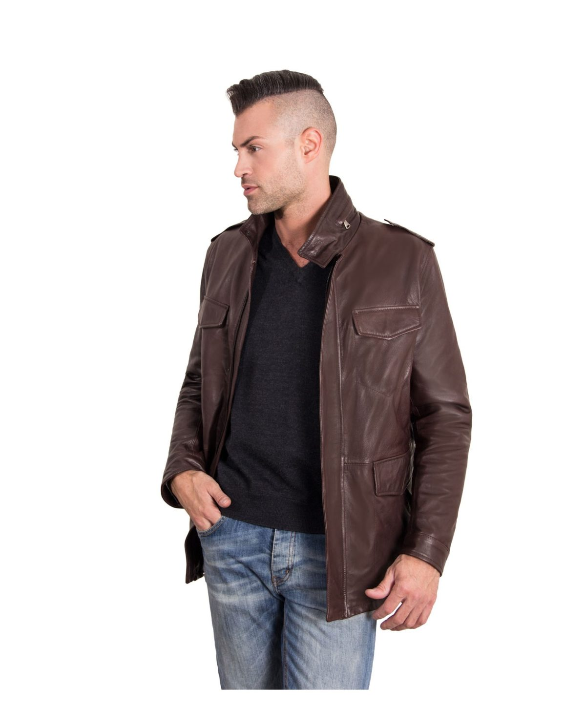 best-dark-brown-color-nappa-lamb-leather-jacket-4-pockets (2)