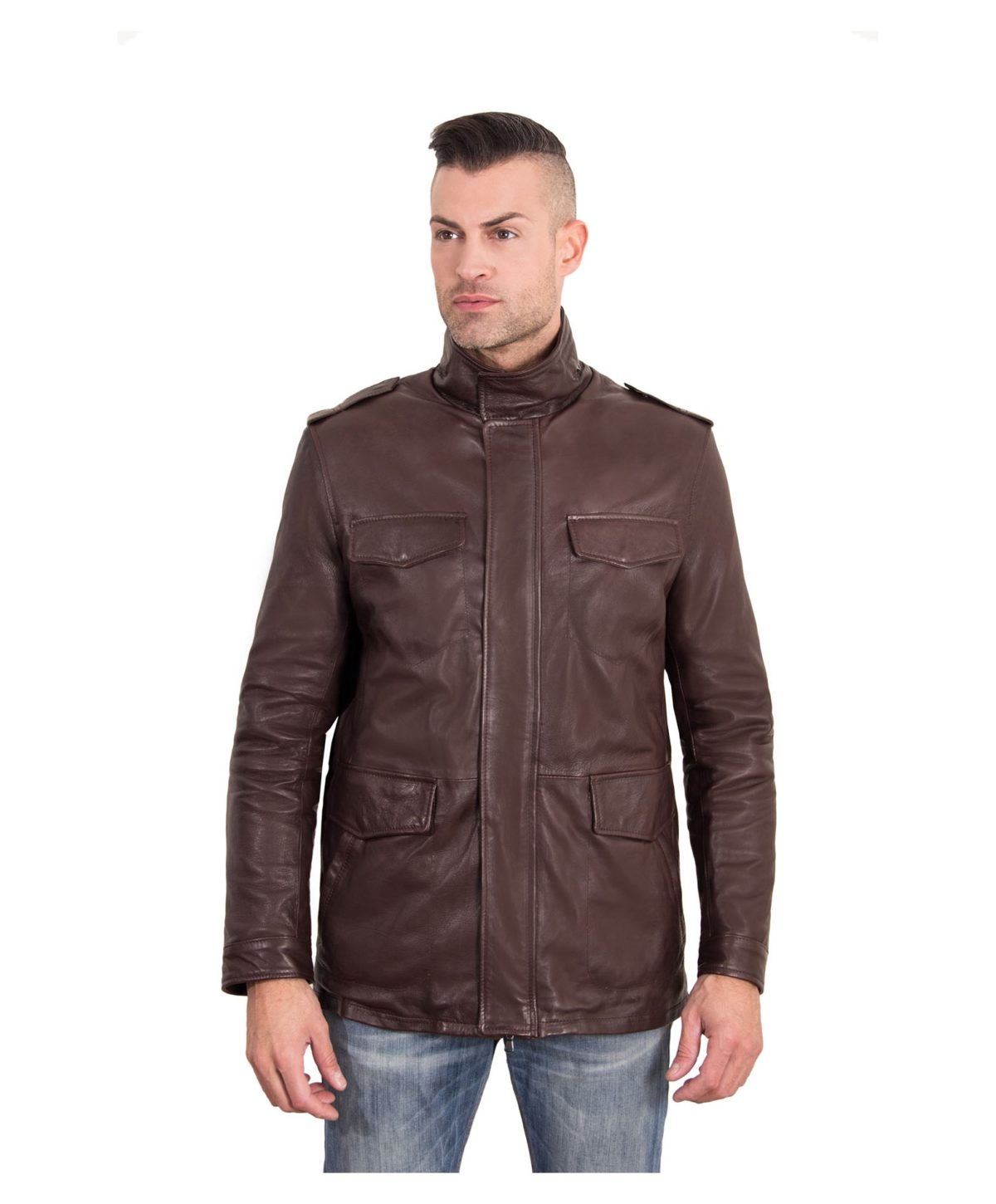 best-dark-brown-color-nappa-lamb-leather-jacket-4-pockets