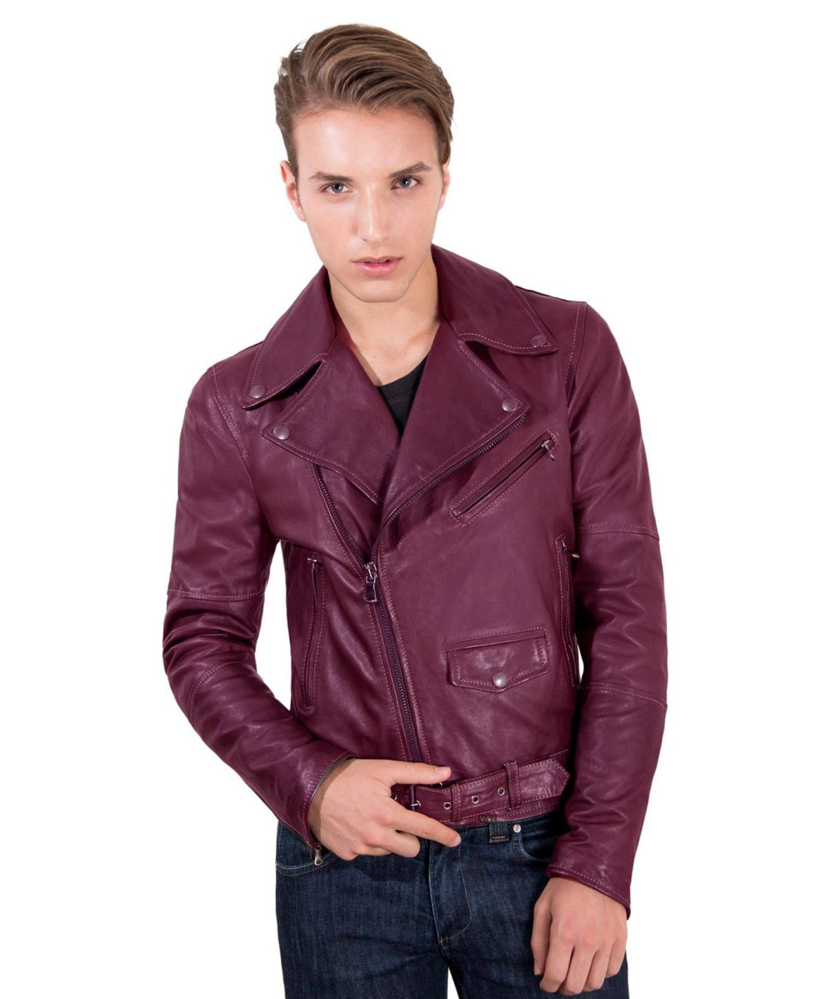 chiodo-biker-red-purple-perfecto-lamb-belted-leather-biker-jacket (3)