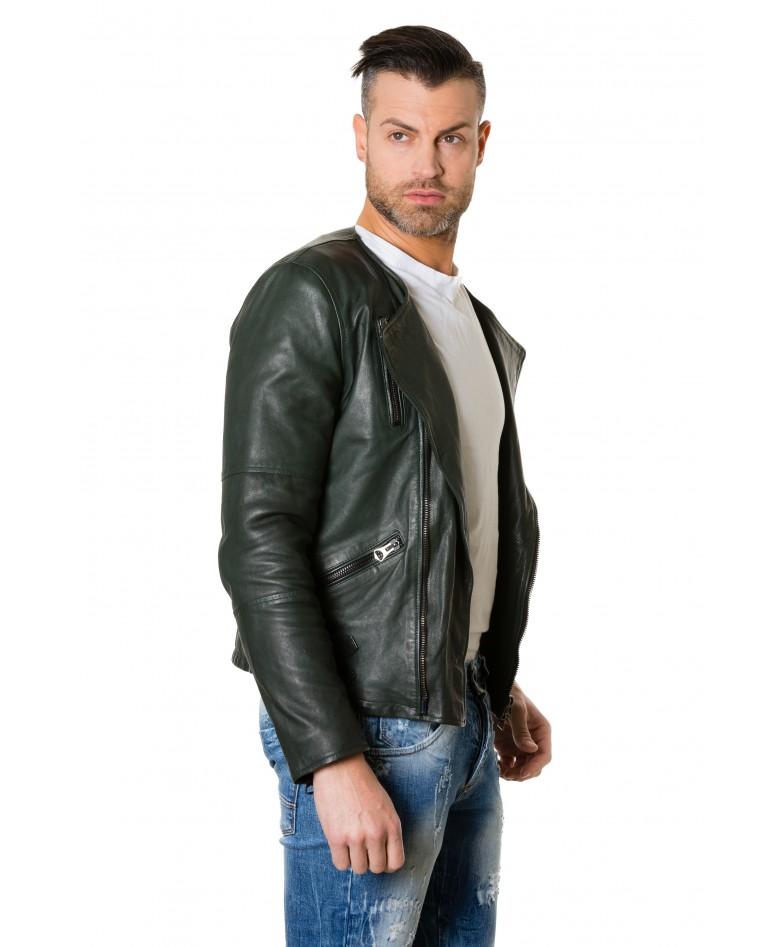 clou2-green-colour-lamb-leather-jacket-no-collar-perfecto (3)