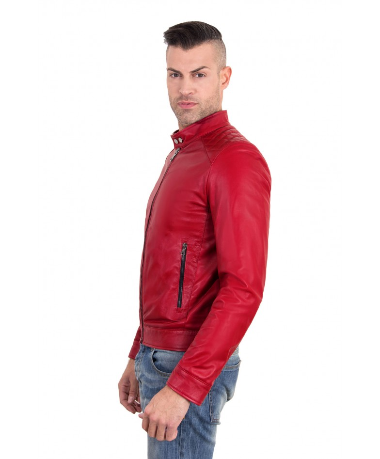 emiliany-trap-red-color-nappa-lamb-quilted-leather-biker-jacket (1)