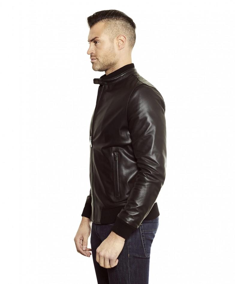 gaudi-black-colour-letaher-bomber-jacket-smooth-aspect (1)