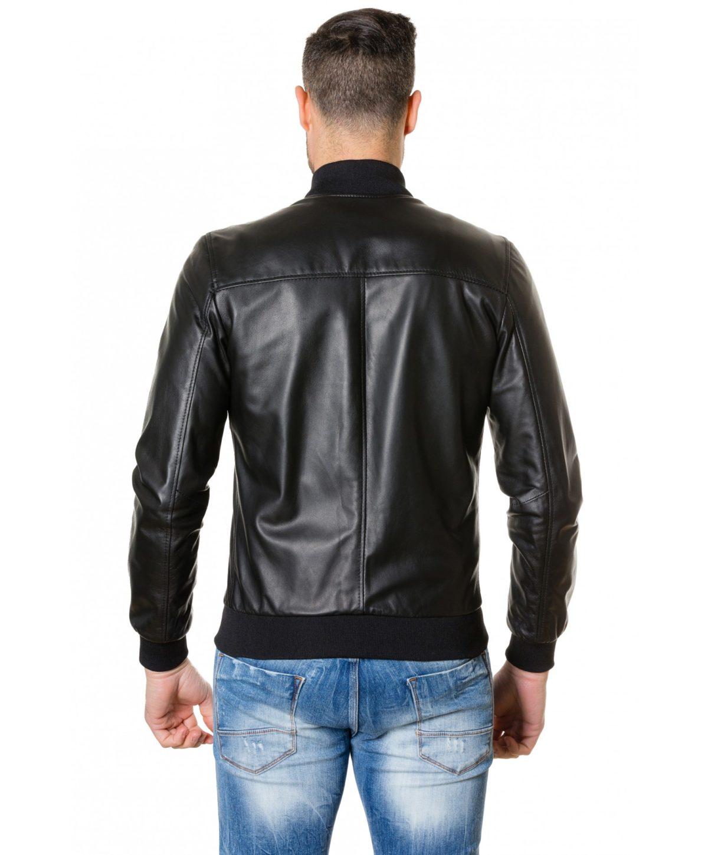 gaudil-black-colour-letaher-bomber-jacket-smooth-aspect (3)