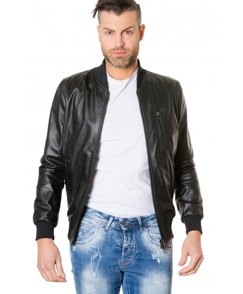 gaudil-black-colour-letaher-bomber-jacket-smooth-aspect (4)