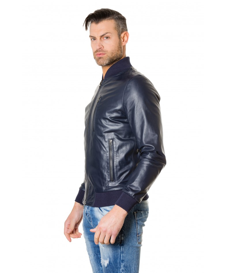 gaudil-blue-colour-letaher-bomber-jacket-smooth-aspect (1)