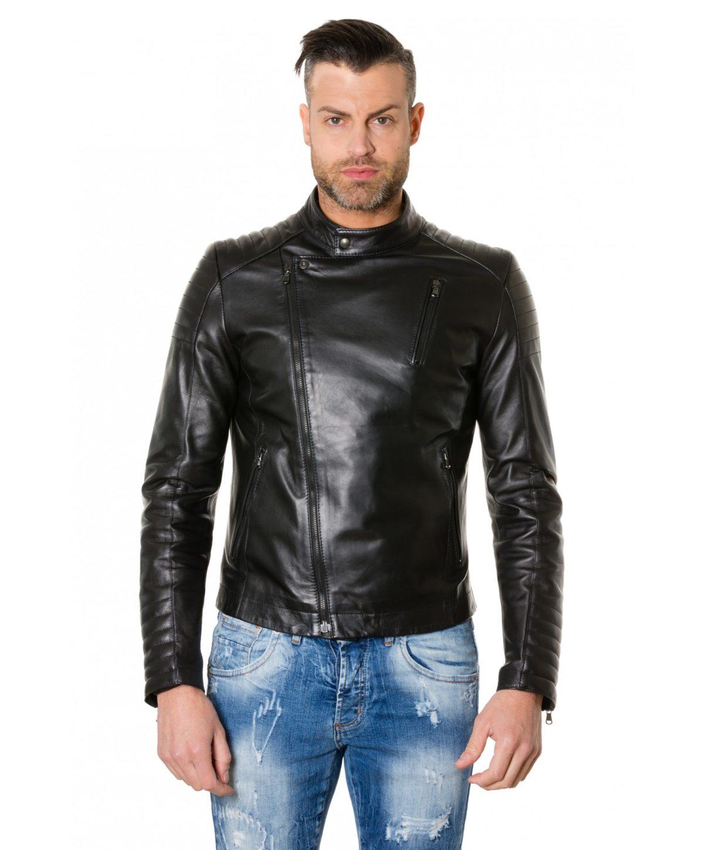 giacca-in-pelle-chiodo-trapuntata-da-uomo-vera-pelle-effetto-liscio-modello-biker-colore-nero-raniero