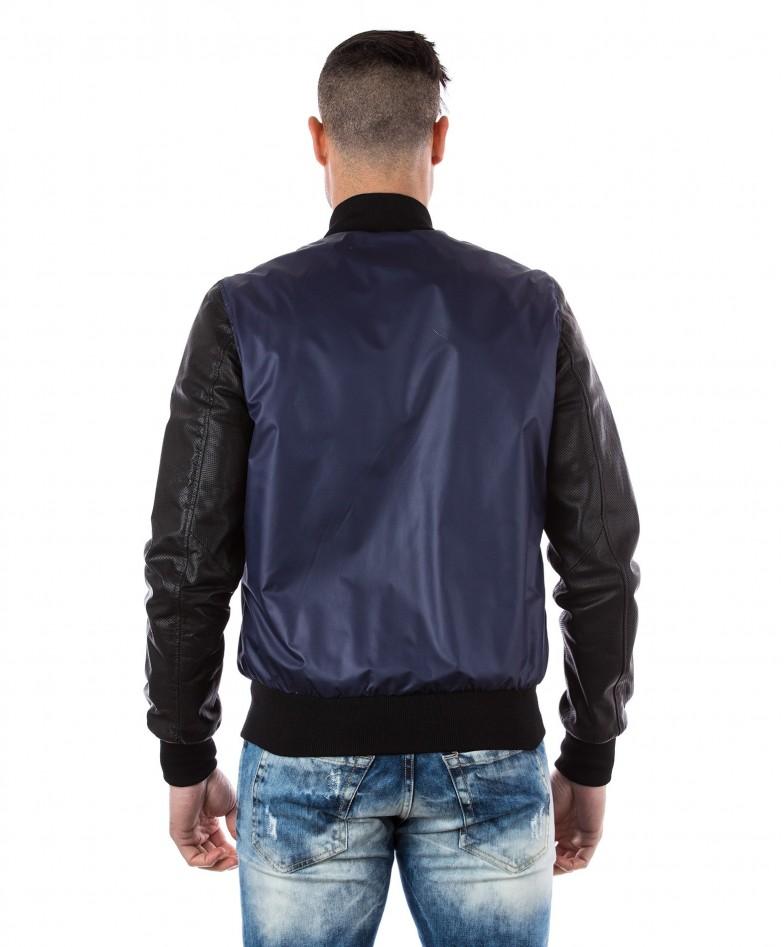 giacca-in-pelle-da-uomo-con-polsini-e-collo-in-cotone-modello-bomberino-blu-college-collezione-uomo-d-arienzo-collezione (4)