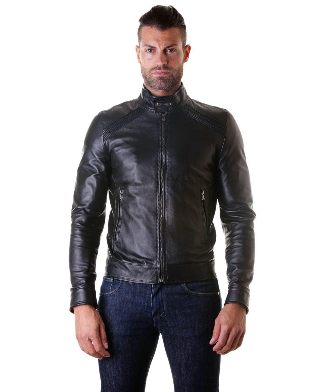 giacca-in-pelle-da-uomocon-impunture-sulle-spalle-senza-tasche-nero-emy- (2)