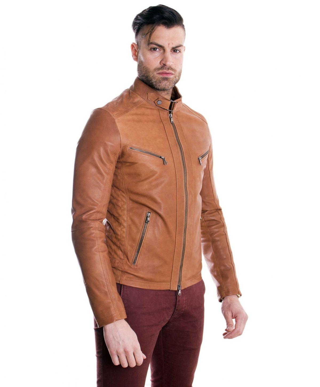 giacca-in-pelle-modello-biker-con-fibbia-al-collo-e-carre-slim-fit-cuoio-daniel- (4)