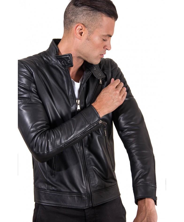 giacca-in-pelle-uomo-trapuntata-vera-pelle-di-agnello-biker-colore-nero-u411 (2)