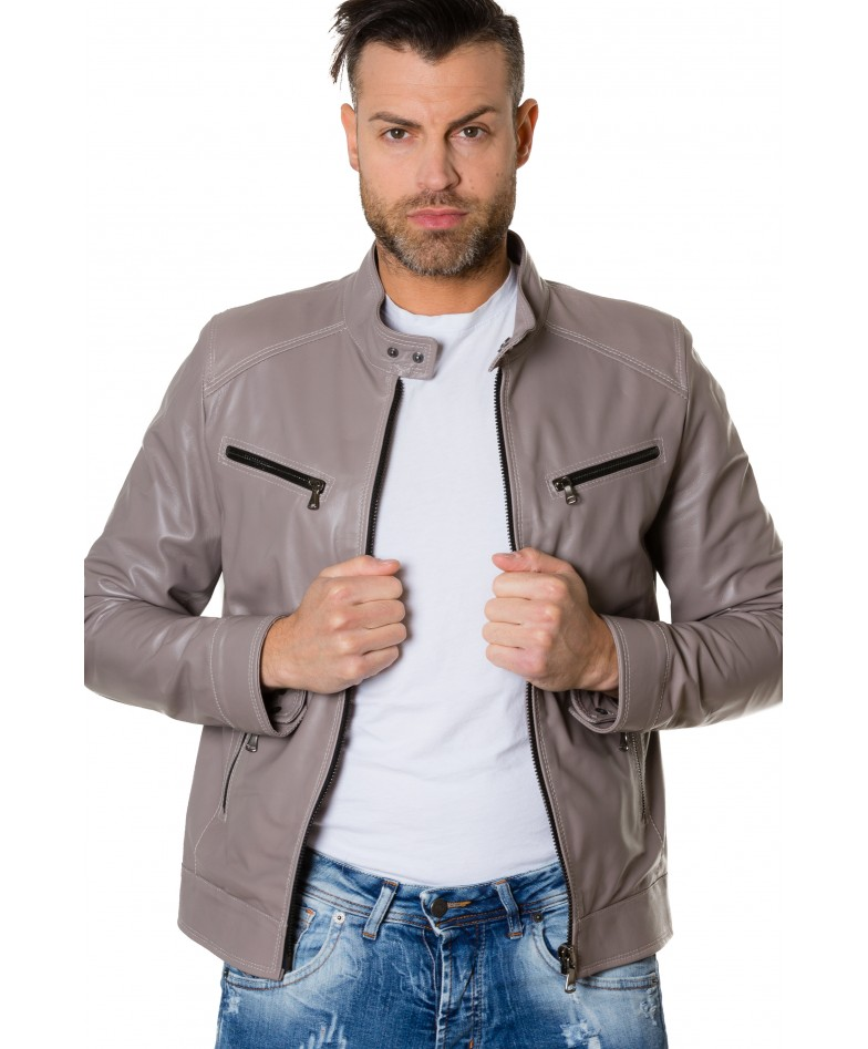 hamilton-grey-colour-lamb-leather-jacket-mao-collar-vintage-aspect (1)