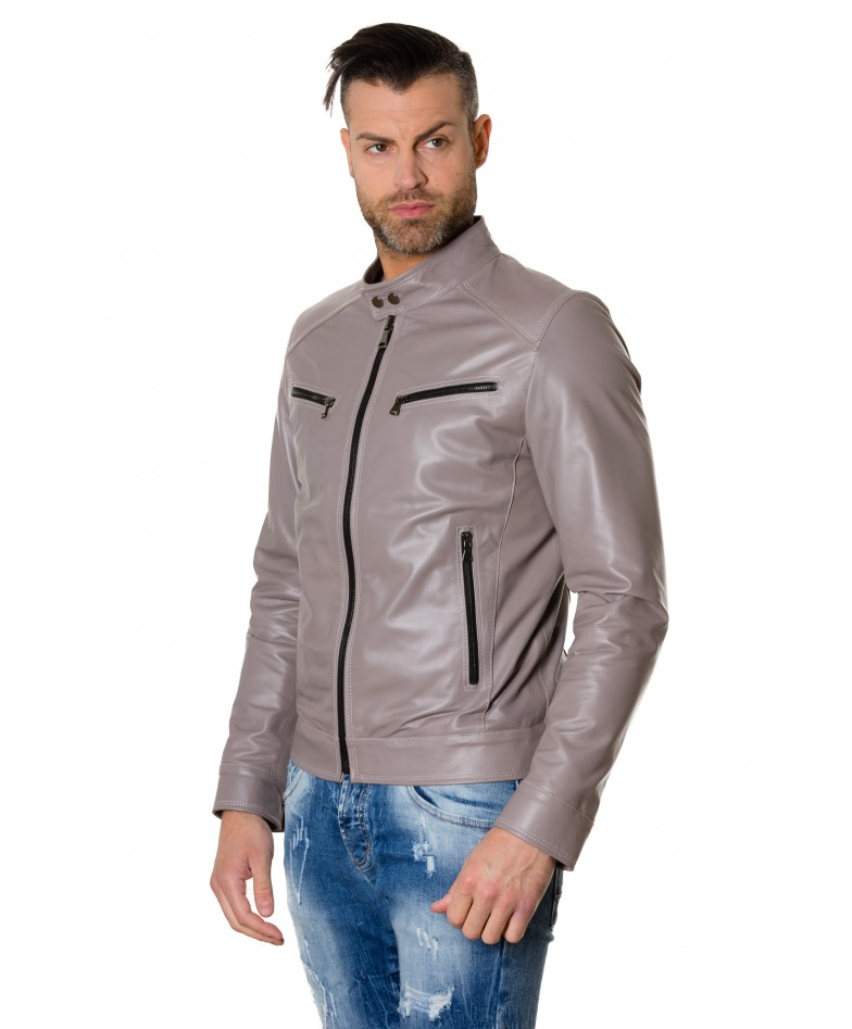 hamilton-grey-colour-lamb-leather-jacket-mao-collar-vintage-aspect (2)