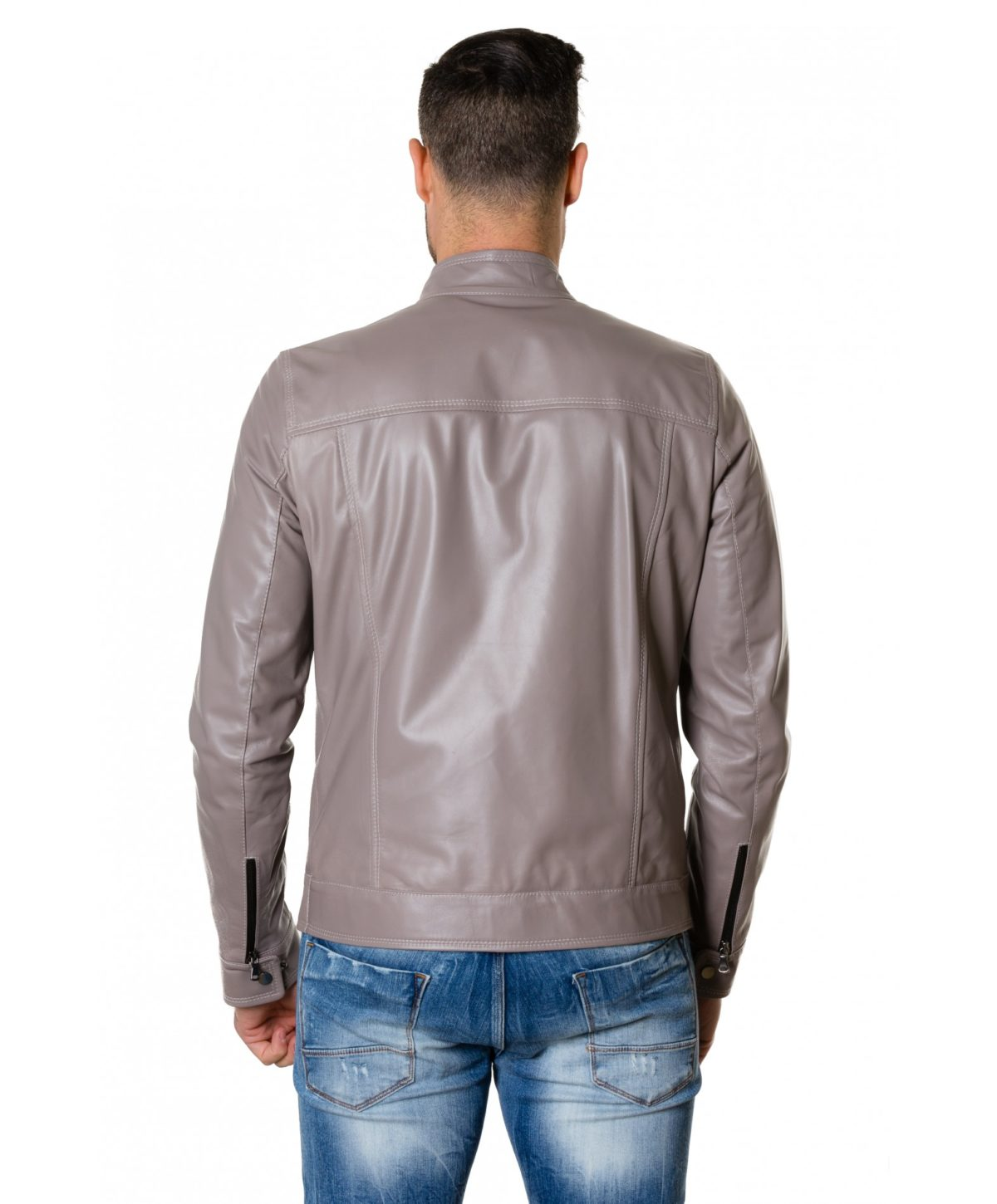 hamilton-grey-colour-lamb-leather-jacket-mao-collar-vintage-aspect (3)