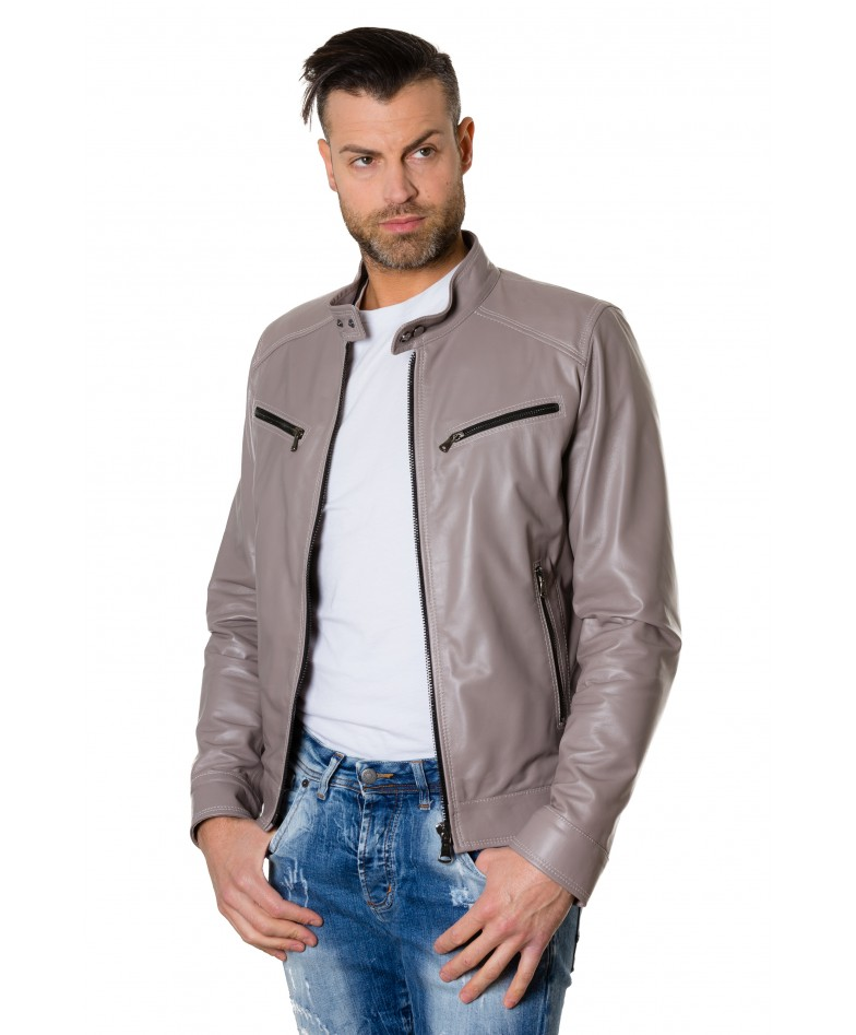 hamilton-grey-colour-lamb-leather-jacket-mao-collar-vintage-aspect (4)