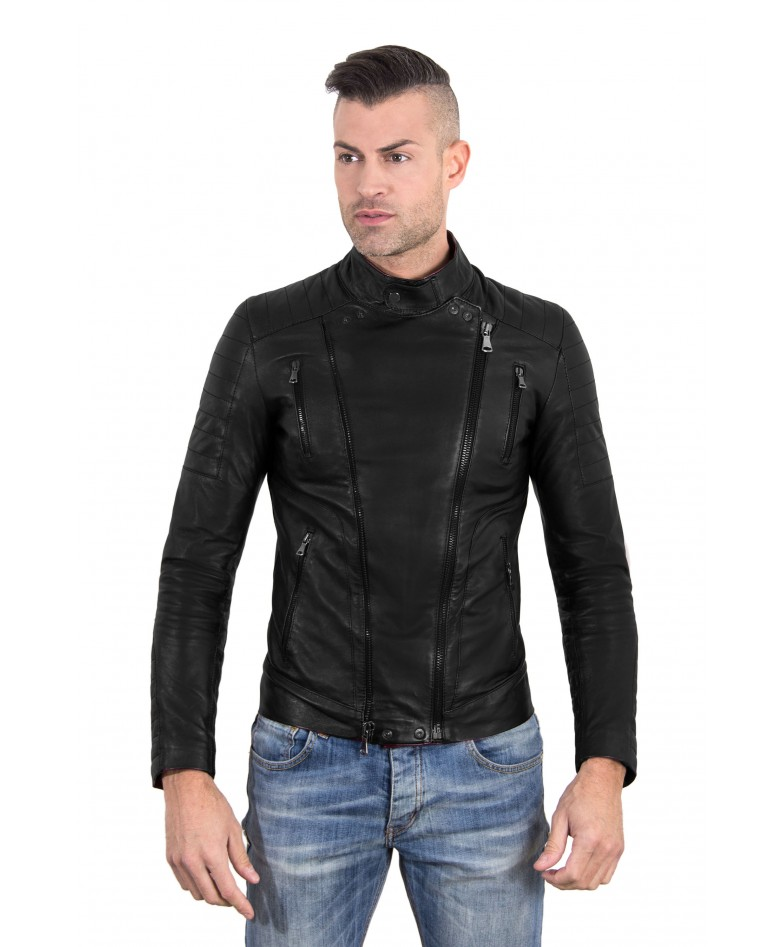 kevin-black-color-nappa-lamb-leather-biker-perfecto-jacket-smooth-effect