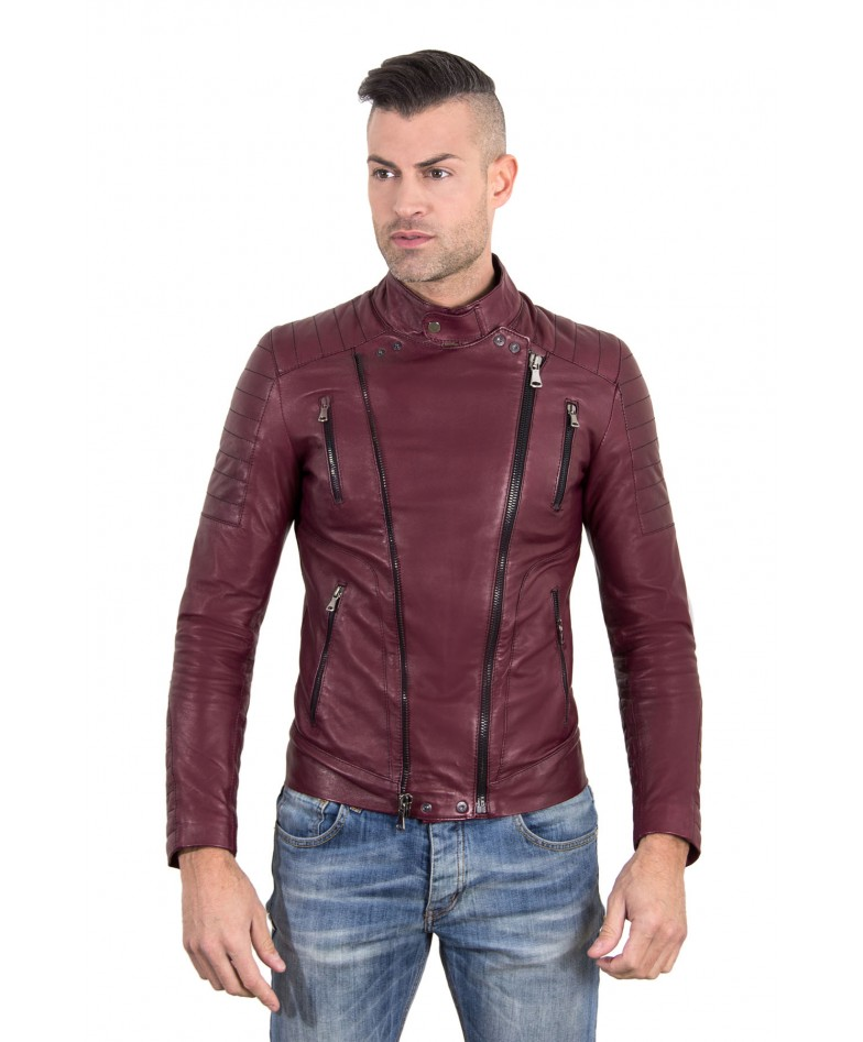 kevin-red-purple-color-nappa-lamb-leather-biker-perfecto-jacket-smooth-effect