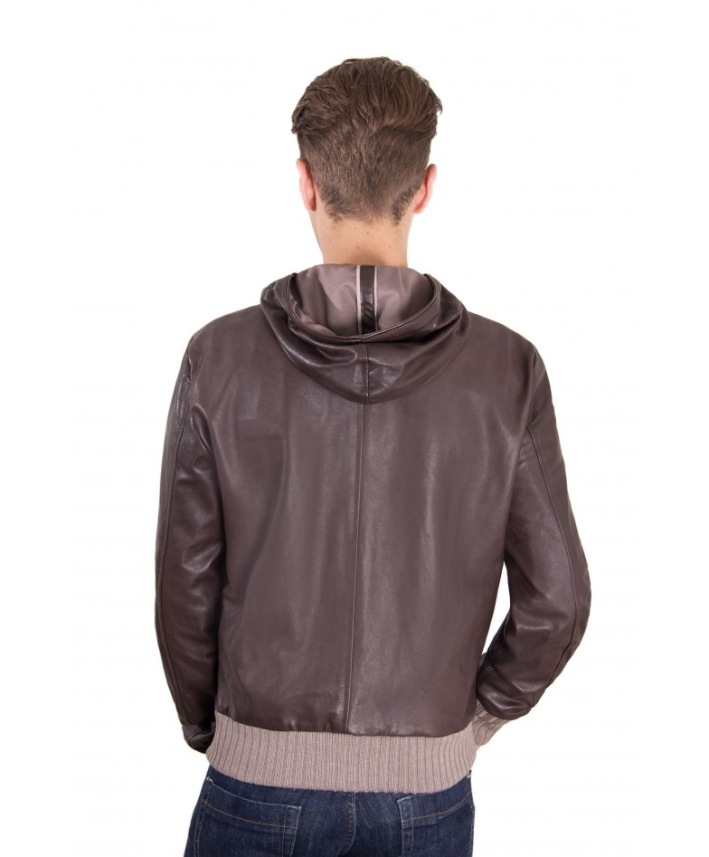 leather-jacket-with-hood-and-soft-lamb-leather-contrasting-wool-dark-brown-color-biancolino (2)