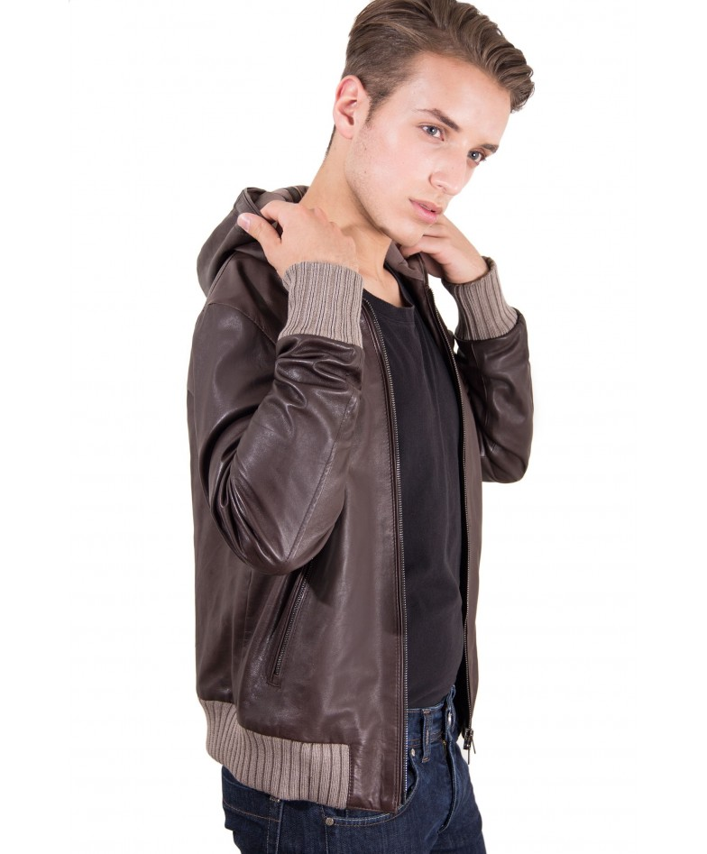 leather-jacket-with-hood-and-soft-lamb-leather-contrasting-wool-dark-brown-color-biancolino (3)