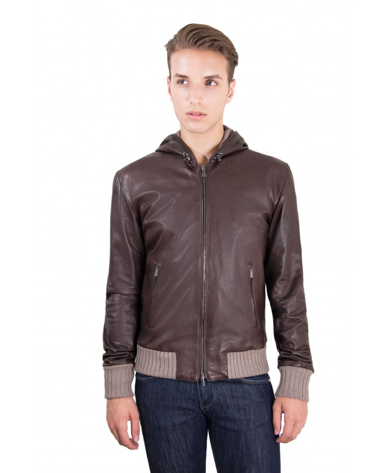 leather-jacket-with-hood-and-soft-lamb-leather-contrasting-wool-dark-brown-color-biancolino
