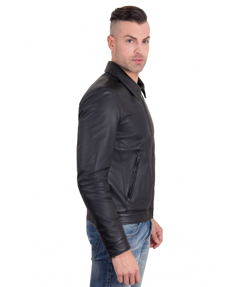 leo-black-color-nappa-lamb-leather-jacket-shirt-collar (2)