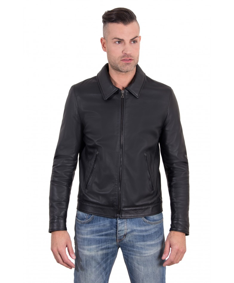leo-black-color-nappa-lamb-leather-jacket-shirt-collar
