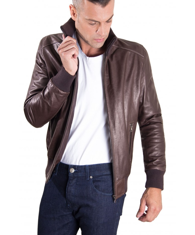 men-s-leather-jacket-contrasting-stitching-style-bomber-dark-brown-color-bomber (2)