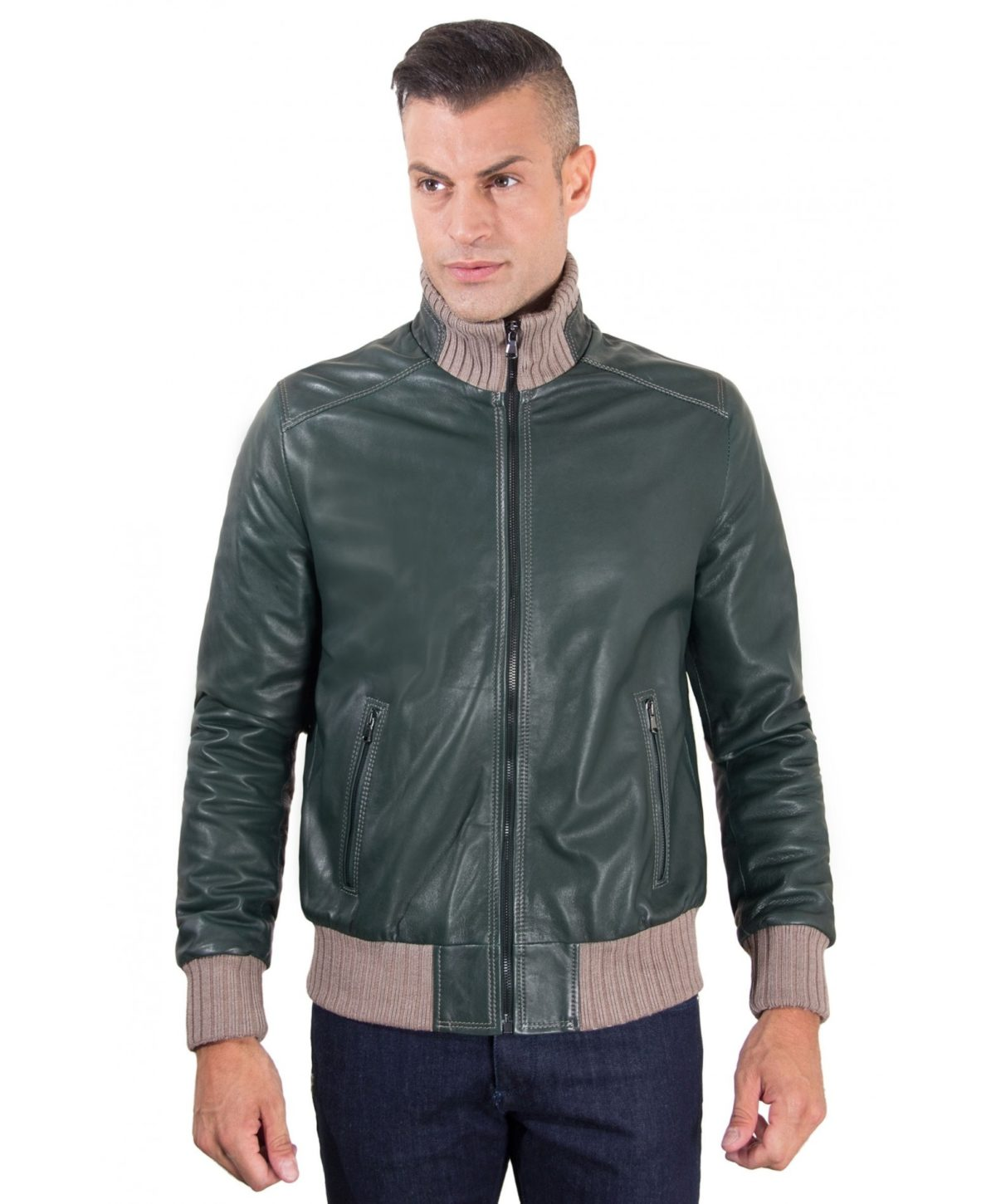 men-s-leather-jacket-contrasting-wool-style-bomber-green-color-bomber