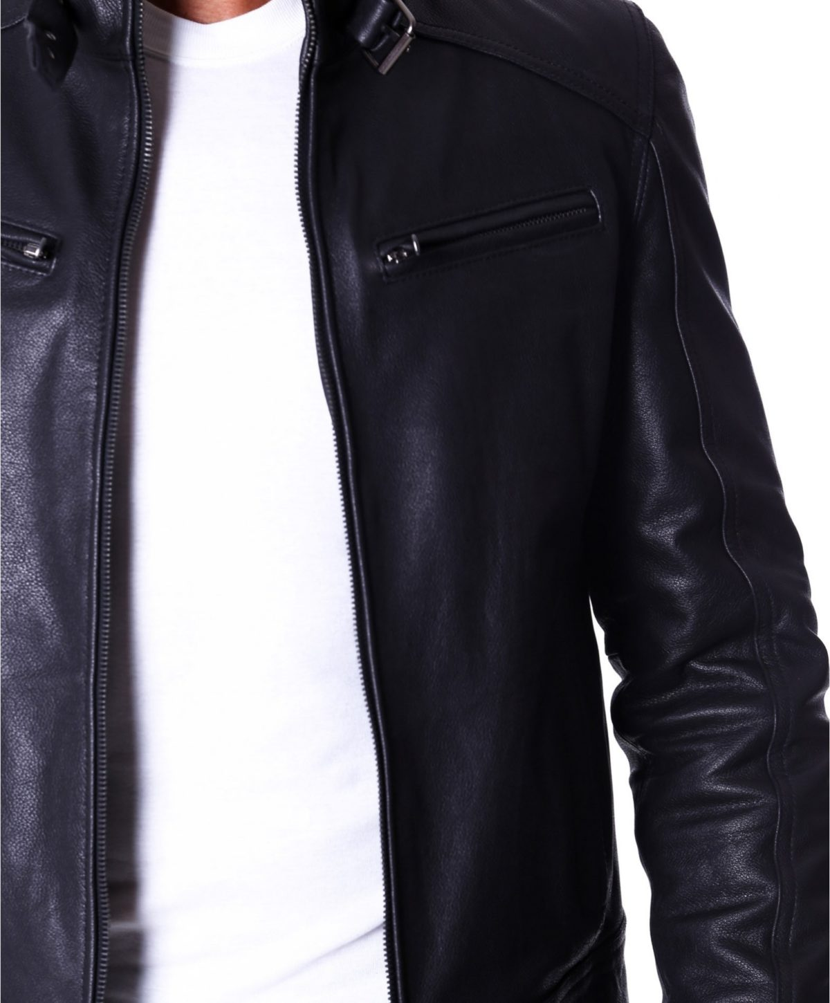 men-s-leather-jacket-genuine-lamb-leather-biker-buckle-collar-black-color-max (1)