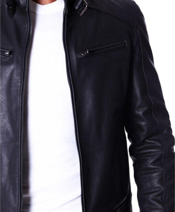 men-s-leather-jacket-genuine-lamb-leather-biker-buckle-collar-black-color-max (1)