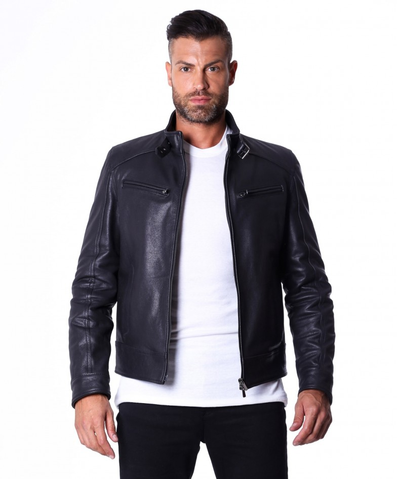 men-s-leather-jacket-genuine-lamb-leather-biker-buckle-collar-black-color-max (2)