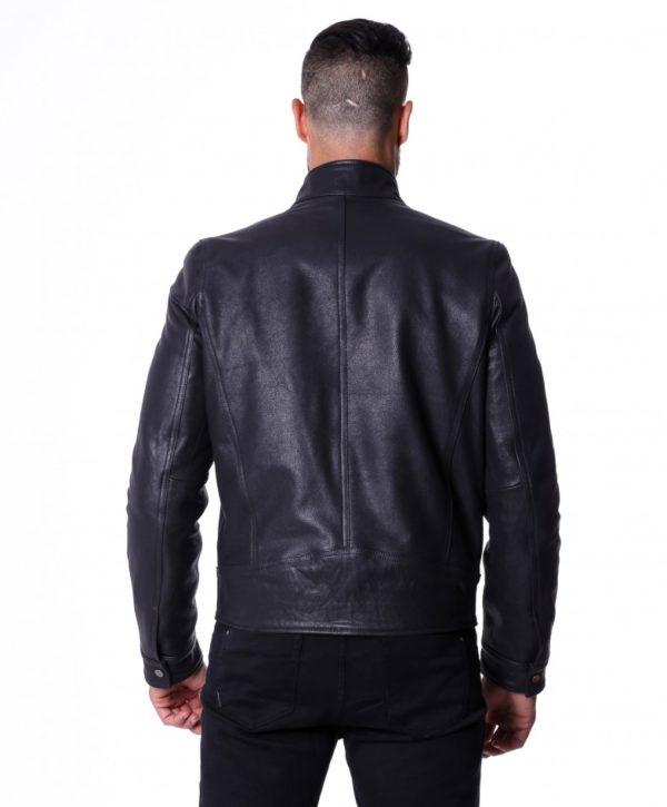 men-s-leather-jacket-genuine-lamb-leather-biker-buckle-collar-black-color-max (4)