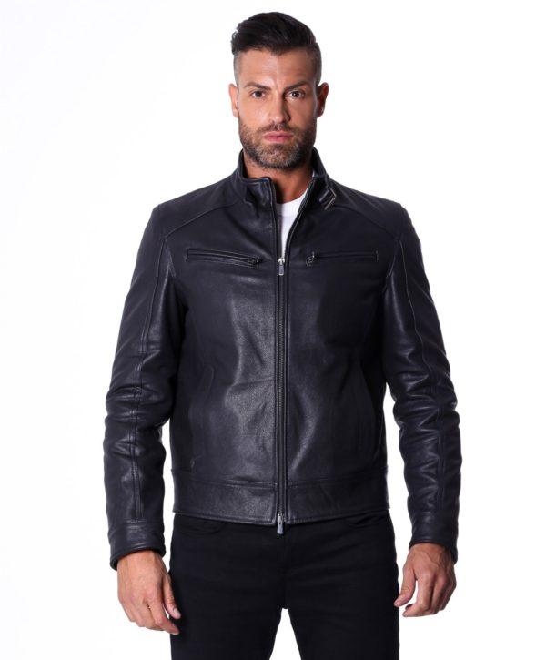 men-s-leather-jacket-genuine-lamb-leather-biker-buckle-collar-black-color-max