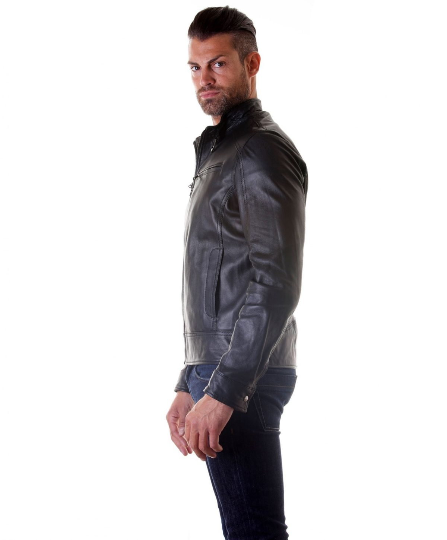 men-s-leather-jacket-genuine-soft-leather-biker-buckle-collar-black-color-modmax (2)