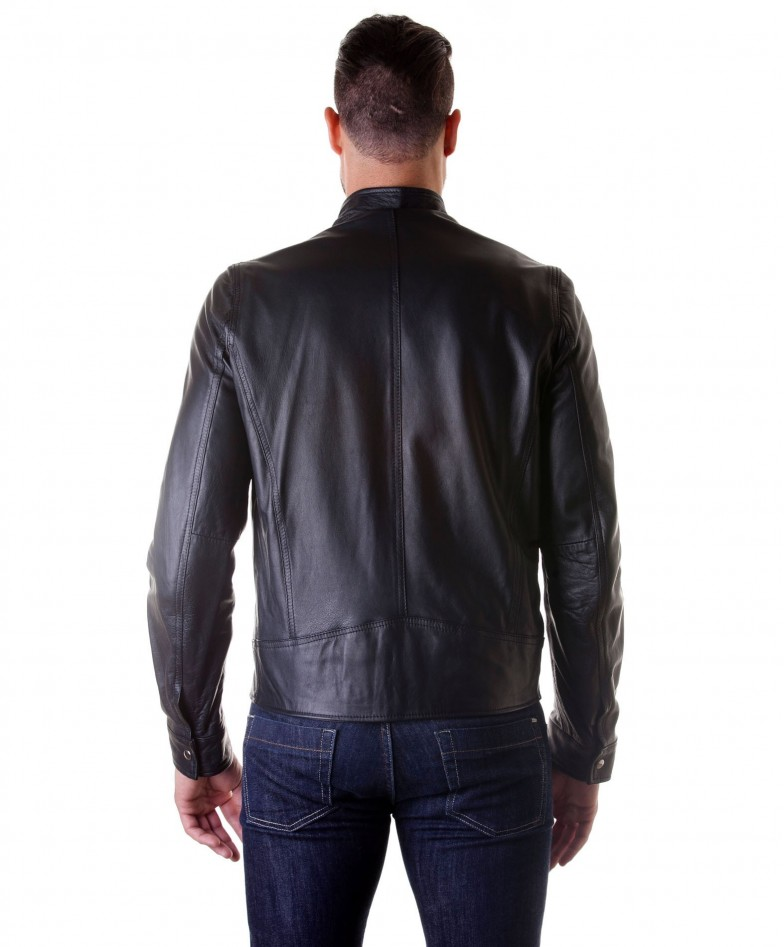 men-s-leather-jacket-genuine-soft-leather-biker-buckle-collar-black-color-modmax (3)