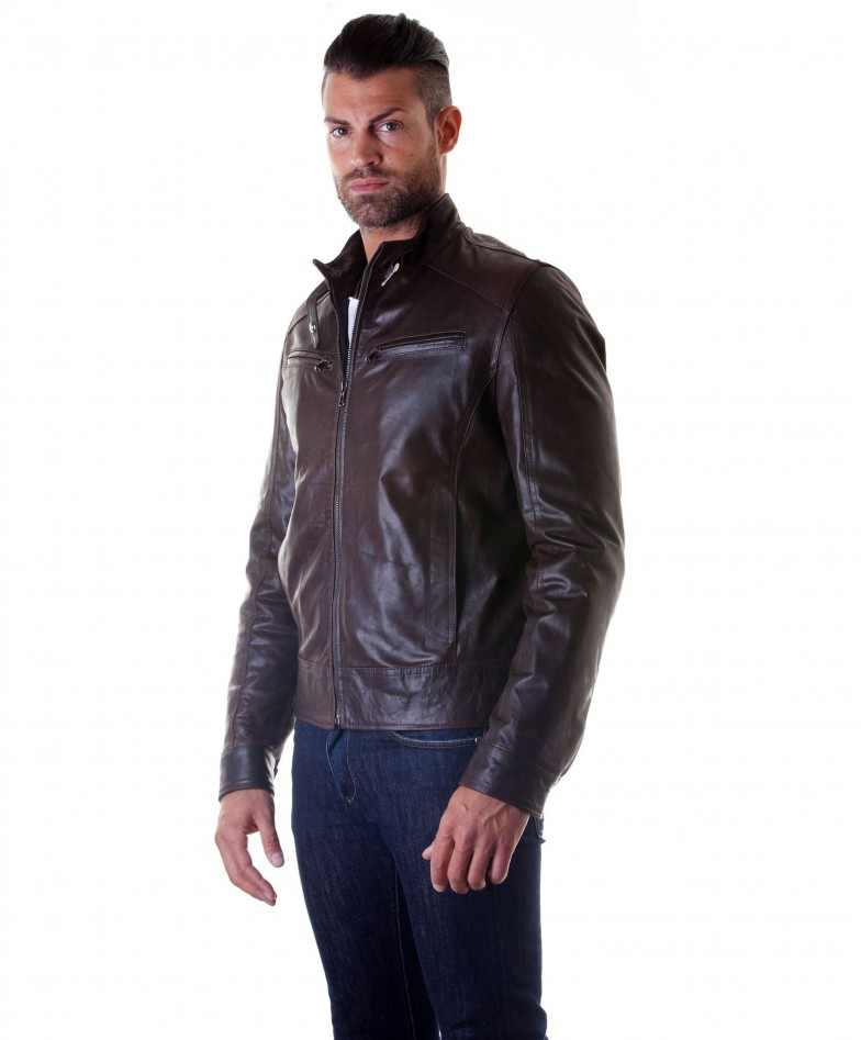 men-s-leather-jacket-genuine-soft-leather-biker-buckle-collar-dark-brown-color-modmax (2)