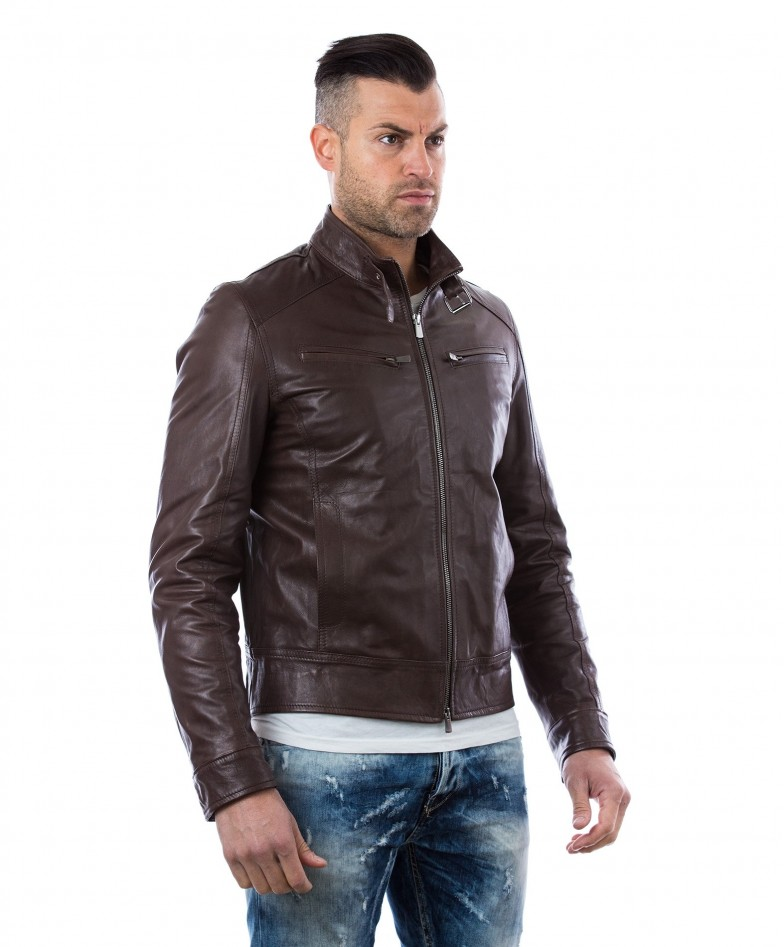 men-s-leather-jacket-genuine-soft-leather-biker-buckle-collar-dark-brown-color-modmax (2)