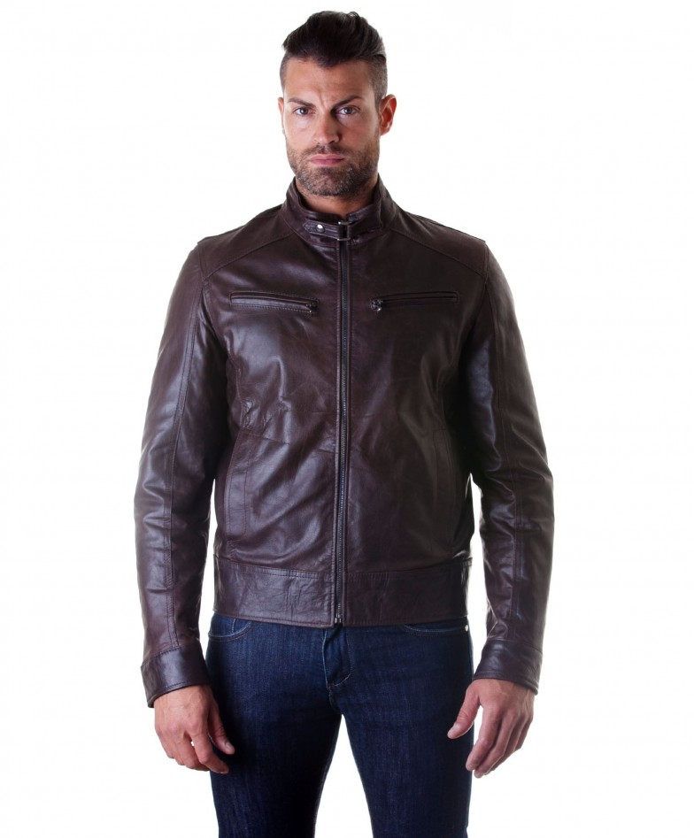 men-s-leather-jacket-genuine-soft-leather-biker-buckle-collar-dark-brown-color-modmax