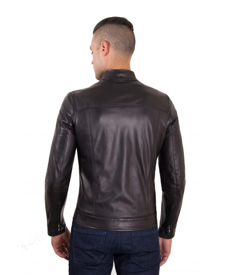 men-s-leather-jacket-genuine-soft-leather-biker-mao-collar-mao-black-color-hamilton (2)