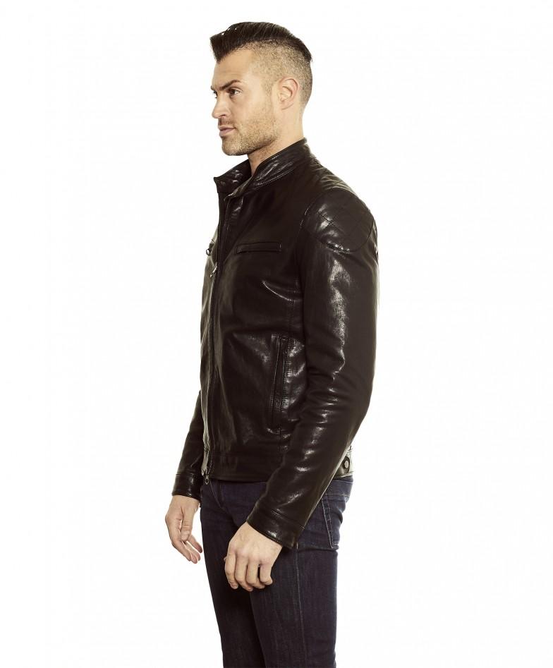 men-s-leather-jacket-genuine-soft-leather-biker-mao-collar-quilted-yoke-black-color-u410 (1)