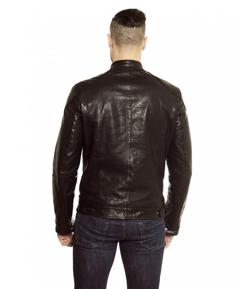 men-s-leather-jacket-genuine-soft-leather-biker-mao-collar-quilted-yoke-black-color-u410 (2)