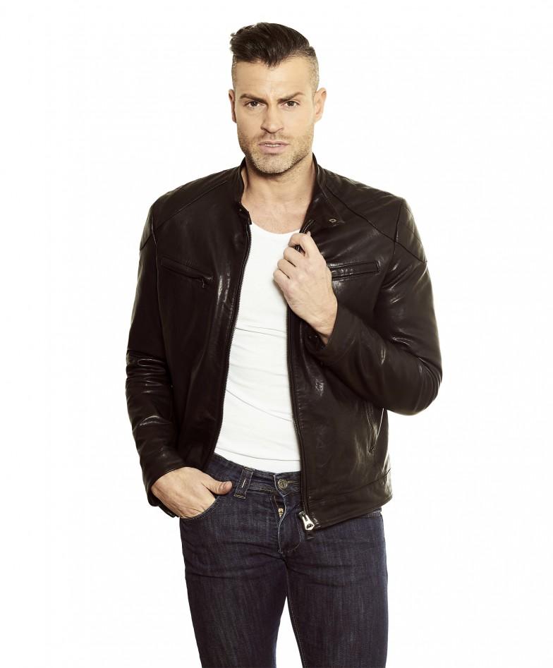 men-s-leather-jacket-genuine-soft-leather-biker-mao-collar-quilted-yoke-black-color-u410 (3)