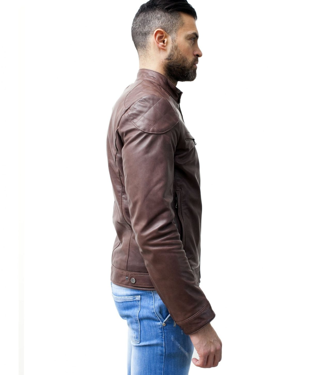 men-s-leather-jacket-genuine-soft-leather-biker-mao-collar-quilted-yoke-brown-color-u410brown (2)