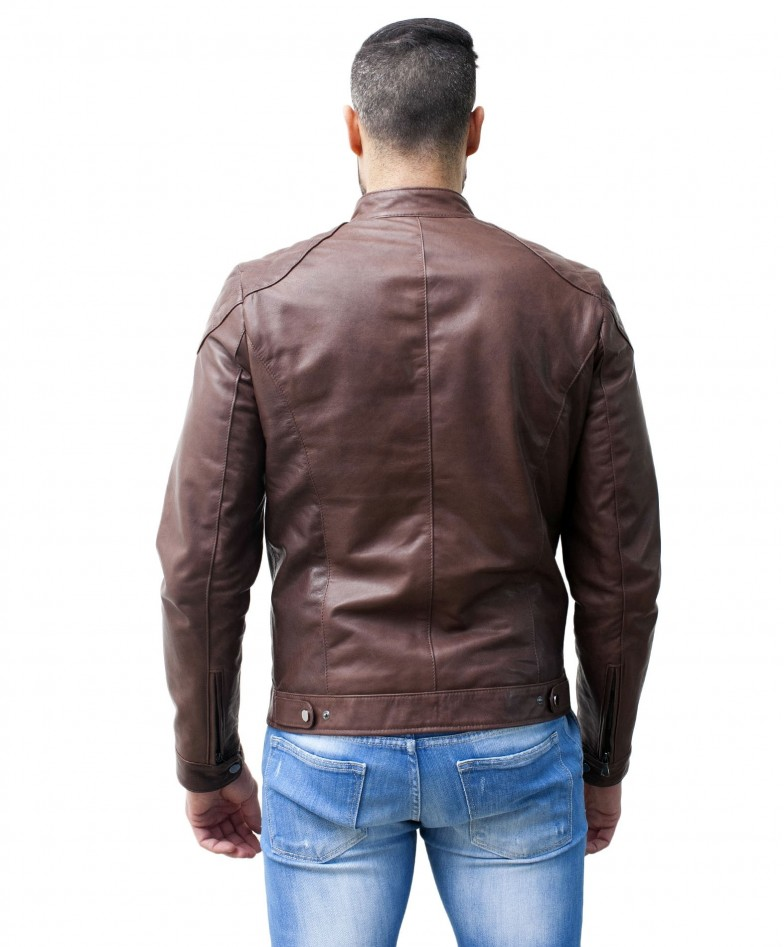 men-s-leather-jacket-genuine-soft-leather-biker-mao-collar-quilted-yoke-brown-color-u410brown (3)