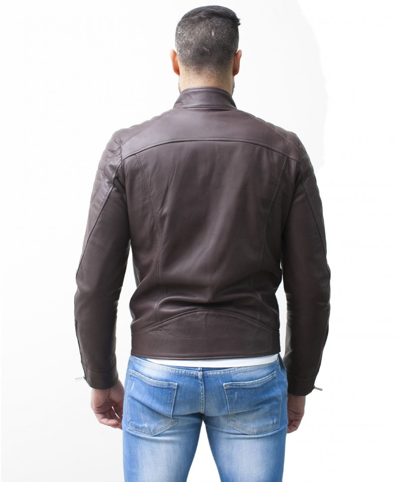 men-s-leather-jacket-genuine-soft-leather-biker-mao-collar-quilted-yoke-dark-brown-color-u411 (3)