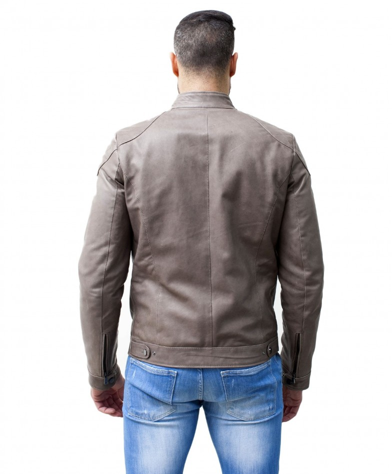 men-s-leather-jacket-genuine-soft-leather-biker-mao-collar-quilted-yoke-grey-color-u410 (3)