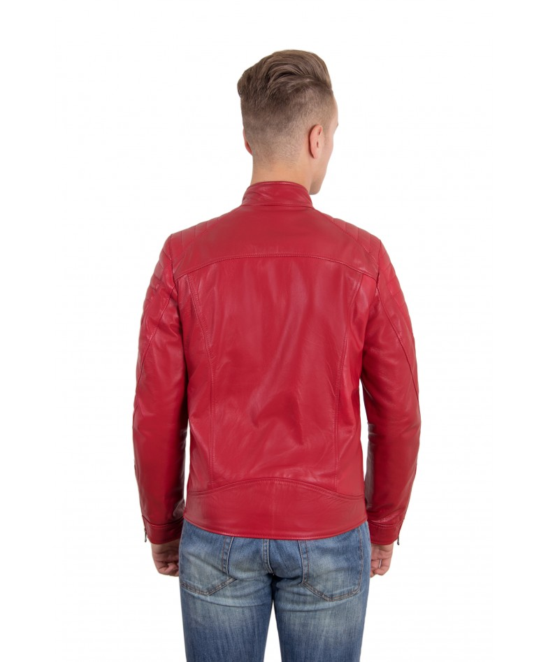 men-s-leather-jacket-genuine-soft-leather-biker-quilted-yoke-red-color-u411 (4)