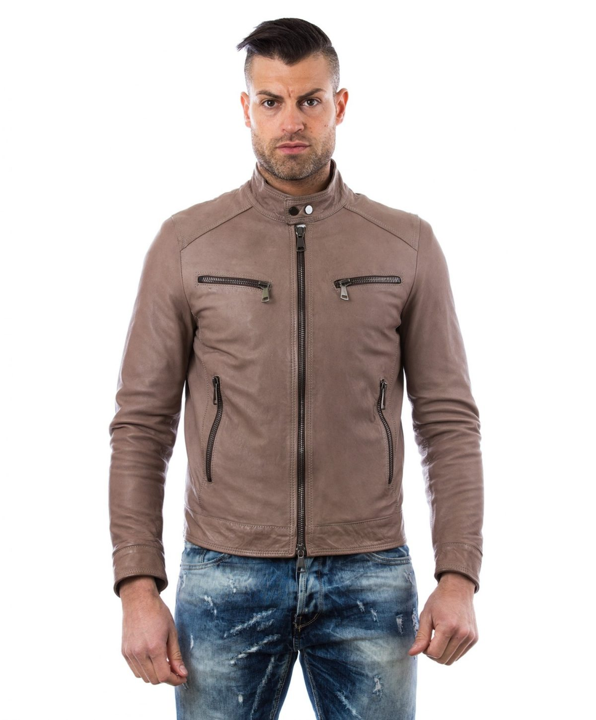 men-s-leather-jacket-genuine-soft-leather-biker-style-collar-mao-gray-color-hamilton