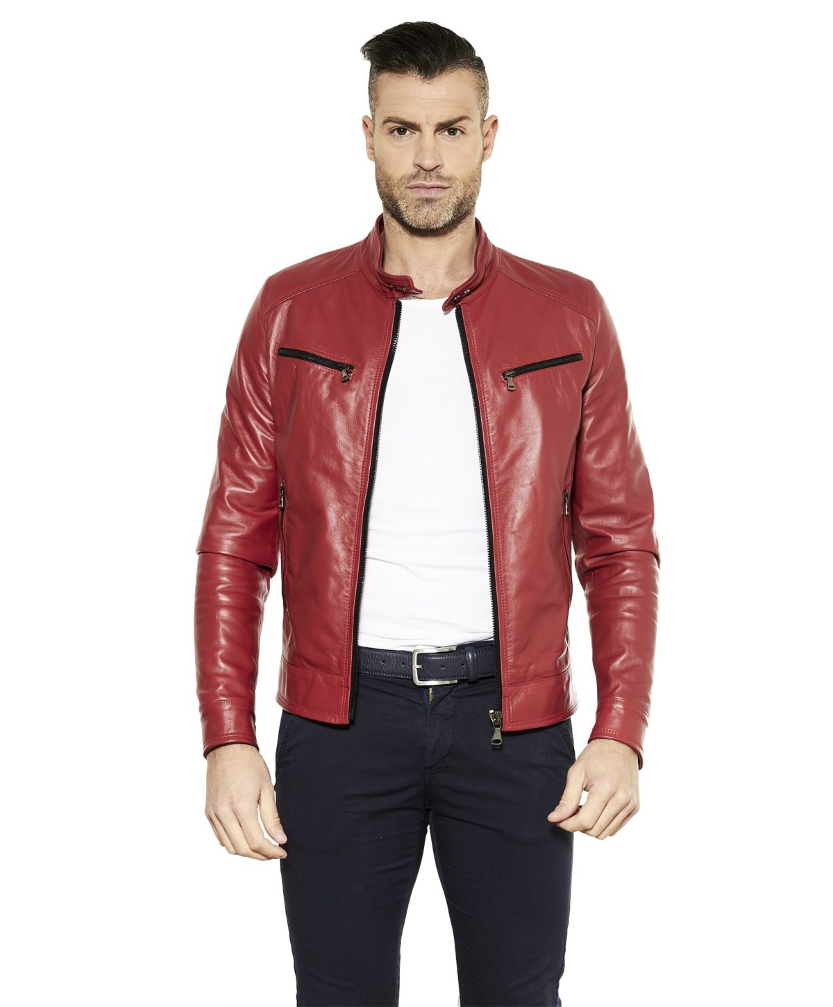 men-s-leather-jacket-genuine-soft-leather-biker-style-collar-mao-red-color-hamilton (2)