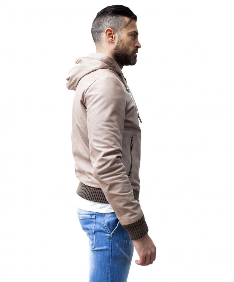 men-s-leather-jacket-genuine-soft-leather-hood-bomber-central-zip-beige-color-u408 (2)
